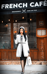 Laura Veronica - Ataellier Coat, Humanic Shoes, New Line Bag, Marks & Spencer Dress - French cafe