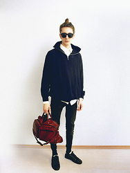 Christoph Amann - Zara Sunglasses, Zara Shirt, Larusso Sweater, Topman Jeans, Bon Voyage Bag, Zara Shoes - Oh, heart .