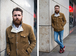 Paul James - Jack London Cord Coat, Adidas Dragon - Manchester Street Style