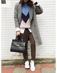 Norelle Weng - H&M Sweater, Zara Shirt, Balenciaga Ledix, Adidas Sneakers - Color Block