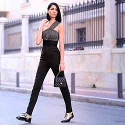 Konstantina Tzagaraki - Jumpsuit, Flats, Chanel Bag - Love can't do it all without feelings..