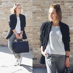 Gema L - H&M Sweater, Zara Bag, Daniel Wellington Watch, Mango Pants - Casual chic vibes