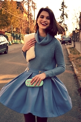 Ligia ▲ - Asos Envelope Bag, Zara Skirt, Zara Knitwear - Always wear a big smile!