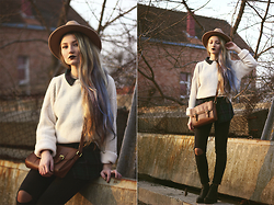 ♡Anita Kurkach♡ - Sheinside Shirt, Asos Jeans, Choies Hat, Asos Bag, Asos Sweater - Ellie Goulding – Love Me Like You Do