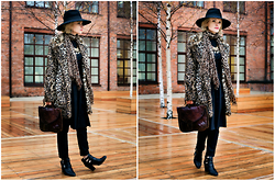 Natalya Volkova - H&M Hat, H&M Boots, New Look Faux Fur Coat - It`s all about dress with jeans