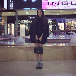 Lil Alina - Chanel Pumps, Topshop Socks, Chanel Bag, Stefanel Dress, Pinko Outer - Romantic Mood