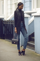 Natasha N - Fringed Vest, Mules, Mom Jeans, Chanel - Poetic Justice