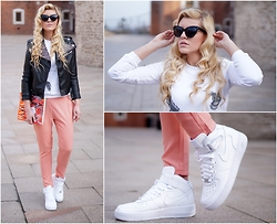 Estelle Fashion - Sheniside Pants, Nike Shoes - City look & Nike Air Force 1