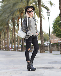 Mikuta - H&M Sweater, Zara Pants, Depeche Boots, Finell Bag, Rhythm Hat - Palma casual