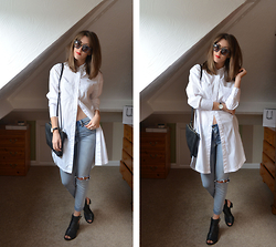 Helen Hird - H&M White Shirt, Vero Moda Jeans, Topshop Shoes, Asos Sunnies - THE WHITE COTTON SHIRT