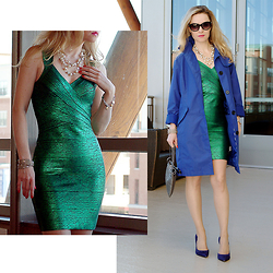 Anya R. - Whbm Necklace, Kewl Dress, Jessica Simpson Heels - Happy St.Patrick's Day!