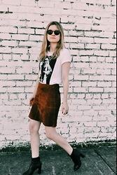 Kirby C - Maje T Shirt, Zara Skirt, Isabel Marant Ankle Boots - F.H.