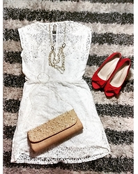 Milca Gomes -  - Dress White and Lace <3