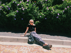 Sabrina Scott - Ray Ban Raybans, Cotton On Off The Shoulder Top, Topshop Black Bag, Cotton On Maxi Skirt, Mr Price Sliders - ROADSIDE