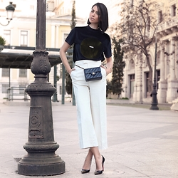 Konstantina Tzagaraki - Blouse, Pants, Christian Louboutin Pumps, Chanel Bag - Silence is most meaningful..