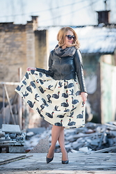 Tatjana Jovanovic - Romwe Skirt, Carpisa Scarf, Zara Shoes - Swan skirt