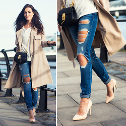 Anouska Proetta Brandon - Asos Duster, Set Fashion Tshirt, Guess? Jeans, River Island Heels, Chloé Bag - Spring has Sprung