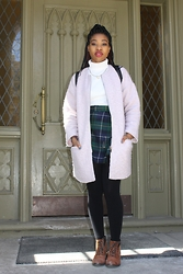 Cheyenne M - Forever 21 Fuzzy Coat, Aldo Leather Boots, Old Navy Turtleneck - Clueless