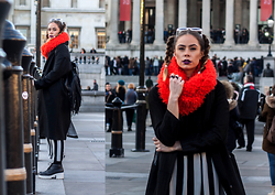 Natalia Homolova - Pull & Bear Scarf, Another8 Coat, Mac Lipstick, Forever 21 Skirt, Vagabond Shoes, Primark Backpack - CATCHY scarf