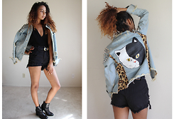 Alexis Brooks - Unif Kitty Denim Jacket - UNIF GOOD KITTY GONE BAD