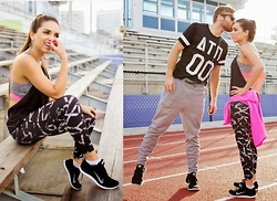 Daniela Ramirez - Nike Shoes - Couple's workout with H&M