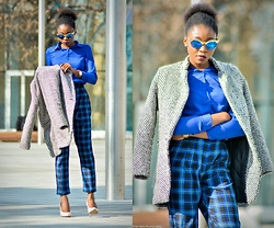 Melody Jacob - Choies Top, Choies Pant, Sheinside Jacket, Freyrs Sunglasses - SPRING BLUE