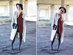 Nathalie R - H&M Dress, H&M Jacket, Weekday Shoes, Monki Hat - UNDER THE BRIDGE