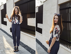 Emma Istvanffy - From The 90's Pants, Choies Blouse, H&M Bag, Zerouv Sunnies, Vagabond Sandals - Ice Cream Obsession