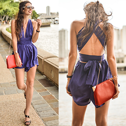 Elle-May Leckenby - Silk Multiway Playsuit In Midnight Navy, Charles & Keith Accessories - Something about us