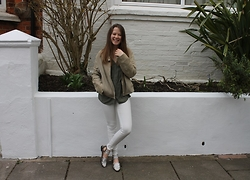 Nora Lauff - H&M Blouse, Mango Leather Jacket, H&M Jeans, Asos Shoes - Earthy Colours