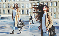 Ilirida Krasniqi - Diesel Jeans, River Island Jacket - Camel Business