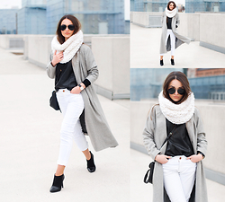 Mirella Szymoniak - Sheinside Coat - Long grey coat
