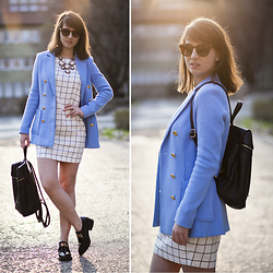 Dorka L. - Zara Shoes, Reserved Bag, Avocada Statement Necklace, H&M Blazer - Modern school girl