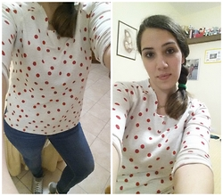 Angelica Giannini - Tezenis Sweater, Zara Jeans - I love pois