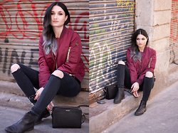 Angela Doe - Schott Nyc Jacket, Calvin Klein Bag, Clarks Bootd - The Bomber