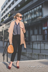 Tatjana Jovanovic - Sheinside Coat, Romwe Shirt, Parfois Bag, H&M Pants - Business look