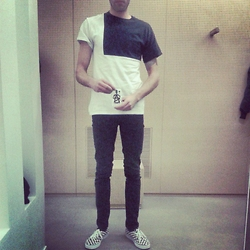 Carnage-paris - Carnage Blok Tee, Vans Checkers, Cheap Monday Skinny - BLOK CARNAGE