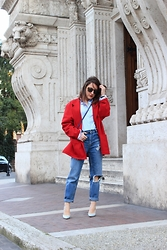 Effe Coco - Zara Shoes, Michael Kors Bag, Pull & Bear Jean - Red & jeans