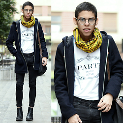 Andrés Barreto - Topman Coat, Asos Satchel Bag, Cheap Monday Jeans, Zara Chelsea Boots - From Hogwarts with love.