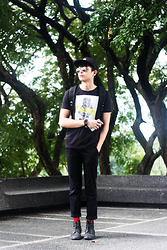 Mikyle Quizon - Brixton Black Headwear, Zara Boots, Zara Trousers - Come Together, Right Now, Over Me.