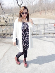 Iza Fugen - H&M Dress, Gap Cardigan, Dr. Martens Boots - Rock it, own it!