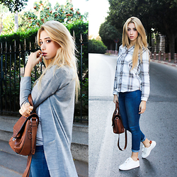 Fatine Zaimi - Stradivarius Sneackers, Stradivarius Cardigan, Zara Shirt, Zara Bag - CASUAL AND COMFY