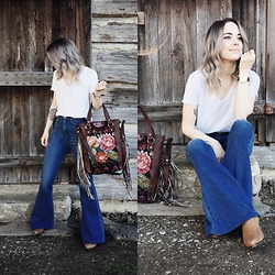 Mary Ellen Skye - Nena And Co Bag, Pylo Denim, Madewell Tee - Nena & Co.