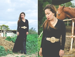 Ojie Papalli - Mango Necklace, Ojiepapalli Blackdress, Spylovebuy Long Boots, People Are Greekbelt, Watch Gold - Donya....