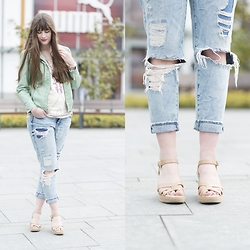 Andrea Funk / andysparkles.de - H&M Girlfriend Jeans, Lands End Espadrilles - Espadrilles & Girlfriend Jeans