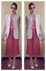 Cassey Cakes - Mango Gilet, Aeropostale Bustier, Topshop Culottes - Colors of Bloom