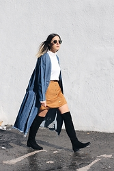 Elif Filyos - Monki Denim Jacket, H&M Faux Suede Skirt - My Planet Needs Me