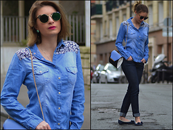 Joanna P. - Khaan Denim Shirt, Primark Mini Bag, Zara Jean, Primark Bows Flats - Baroque'N Blue