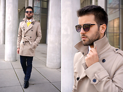 Marc Galobardes - Zara Trench Coat, Forever 21 Jeans, Zara Sweater - TRENCH COAT #ZARA