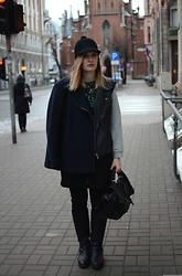 Laura Alksne - Monki Hat, Lindex Coat, Zara Jumper, New Yorker Vest, Alksne Dress, Reserved Bag, H&M Jeans - MIXING IT UP